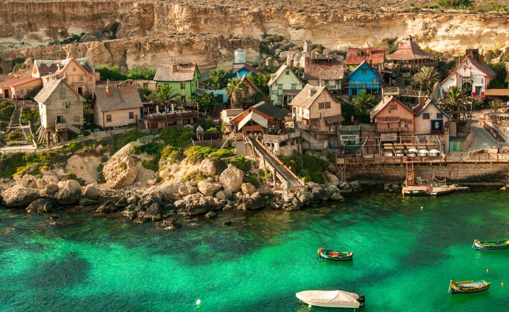 Most iconic places in Malta: Popeye Village, Mellieha Malta